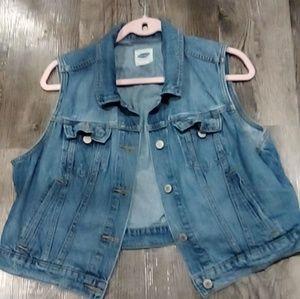 Old Navy Sz XL Jean Vest